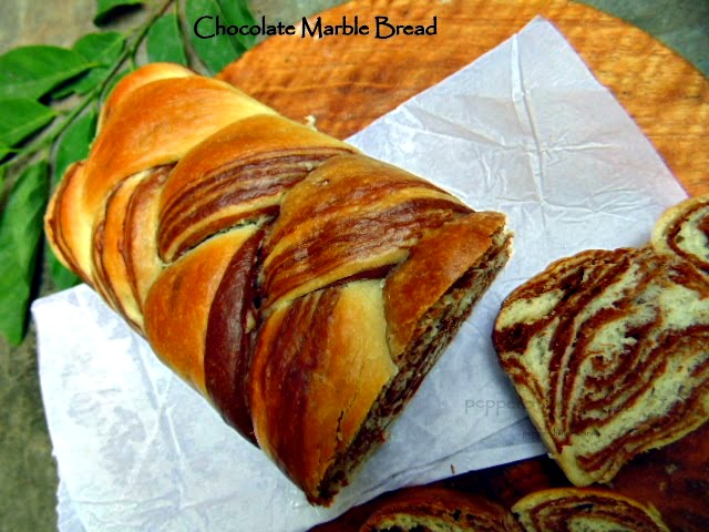 how to make a marble bread loaf,asian marble bread