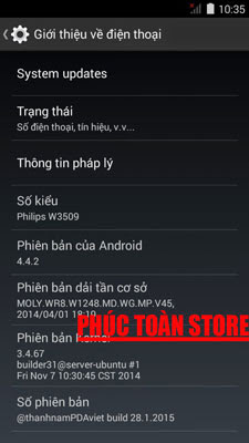 Tiếng Việt Philips W3509 alt