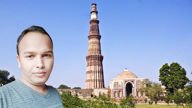 Mohit Kumar Yadav at Qutub Minar Delhi