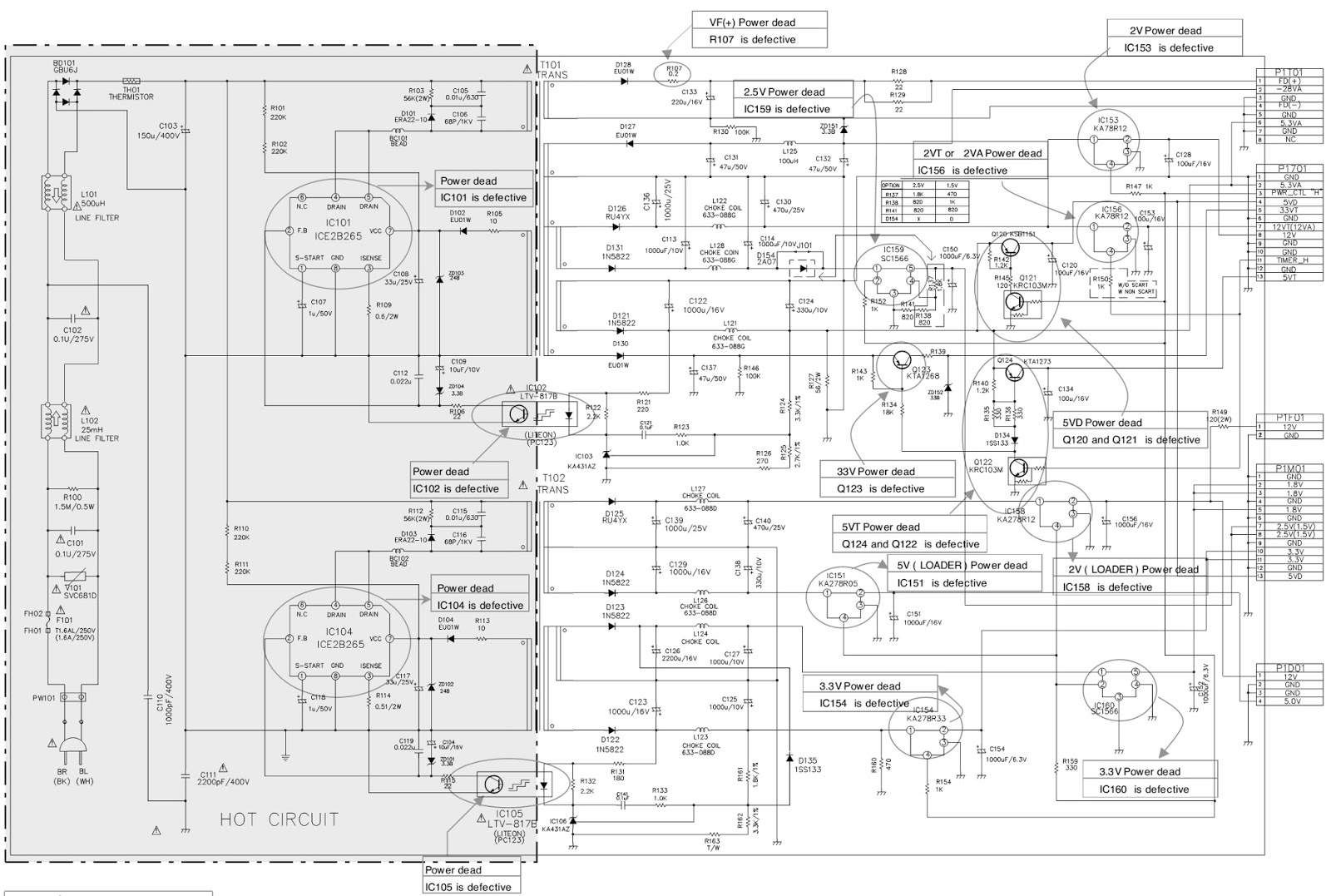 lg dr 4812w hdd dvd main power supply schematic. Black Bedroom Furniture Sets. Home Design Ideas