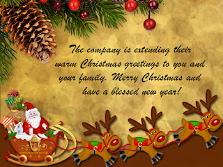 Happy Christmas card for employee