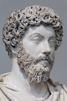 Bust of Marcus Aurelius from the Louvre, Antonine Roman Artwork