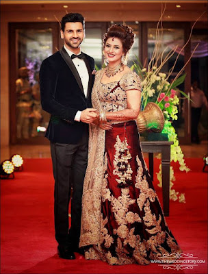 Divyanka Tripathi Wedding Reception Outfit, divyanka tripathi real wedding pics