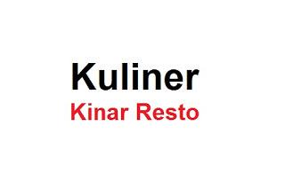 Lowongan Pekejraan KINAR RESTO Desember 2018