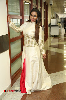 Telugu Actress Sri Reddy Mallidi Stills in White Beautiful Dress at Marriage Needs Bridal Fashion Week 2017 Logo Launch  0037.JPG