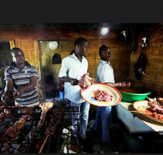 Mai Suya, often referred to as Mallam are people who make their living by selling roasted Suya, a spicy skewered meat that is a popular delicacy among many African ethnic groups.