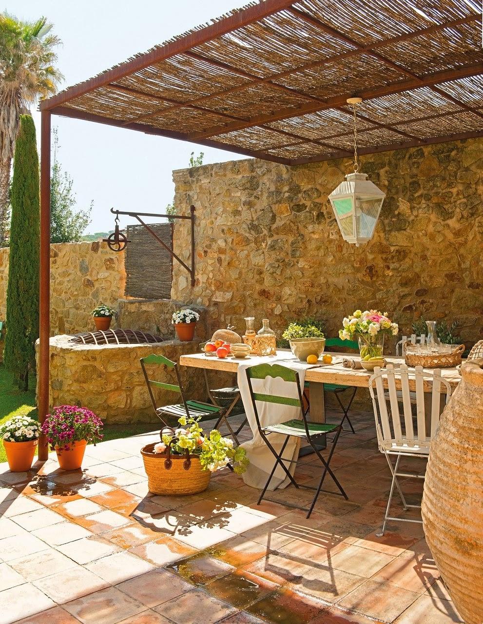 Detalhes do c u uma linda casa rustica perfeita e for Ideas para terrazas rusticas