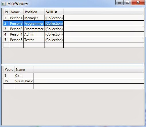 WPF Tutorial: Master detail DataGrid example with code behind