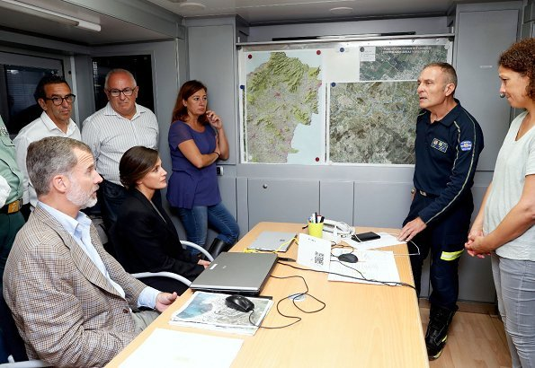 King Felipe VI and Queen Letizia visited Sant Llorenc des Cardassar on Balearic island of Majorca. A five-year-old child is missing