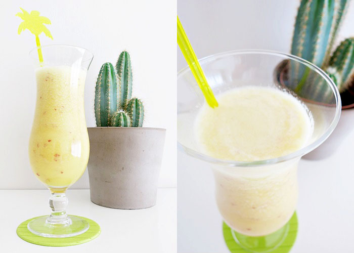 gelber Smoothie [Orange - Apfel - Banane]