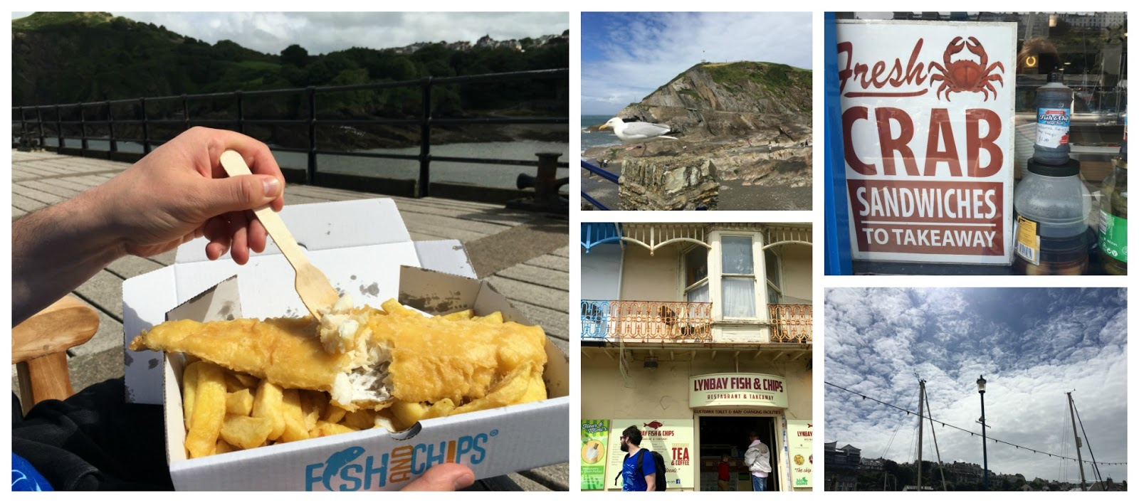 fish and chips in Ilfracombe