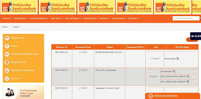 Syndicate Bank Recruitment 2018
