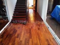 Contoh terpasang flooring kayu Merbau