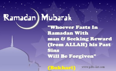 Ramadan Mubarak wishes For Massages: whoever fasts in Ramadan man