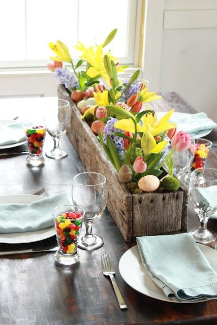 dekoracja wielkanocnego stołu