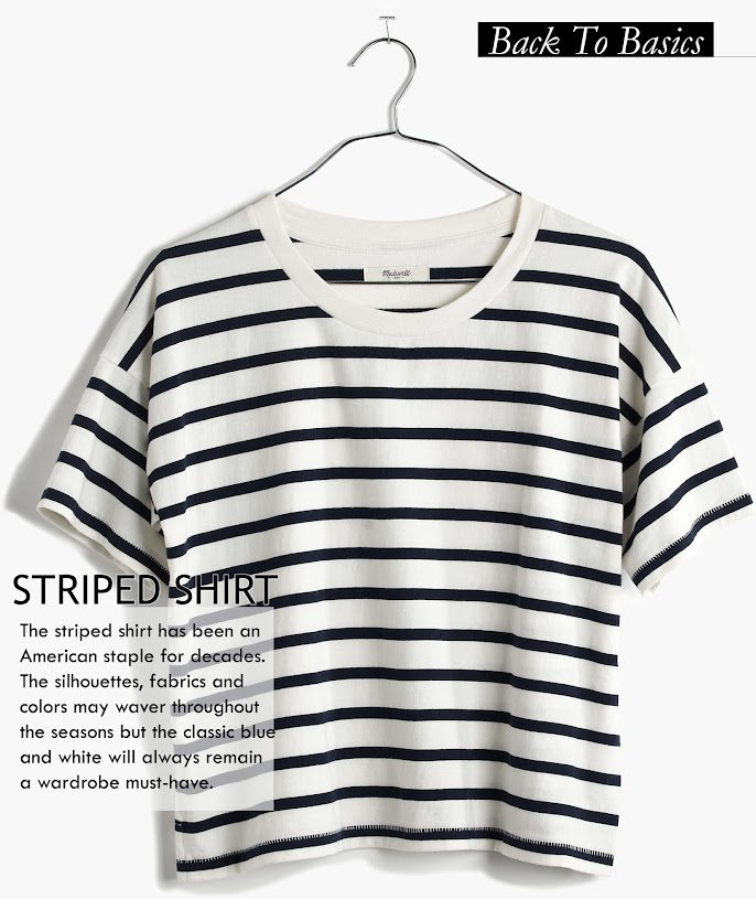 The striped shirt has been an American staple for decades. The silhouettes, fabrics and colors may waver throughout the season but the classic blue and white will always remain a wardrobe must-have.