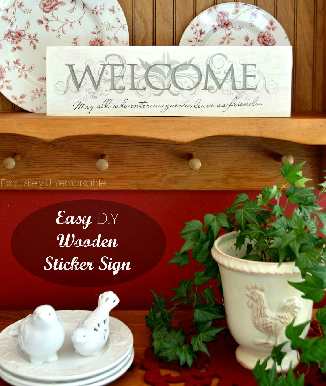 How To Make A Wooden Sticker Sign