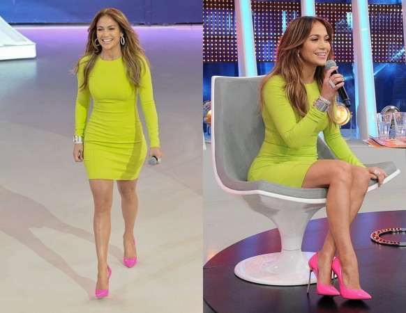 Jennifer Lopez Epitomized The Look When She Eared On American Idol In March A Sleek Neon Pink Gown From Michael Kors S Resort 2017 Collection