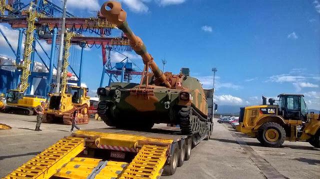 BAE desembarca en Brasil el primer lote de obuses M109A5+BR. 4444