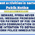 PFRDA does not ever call for any sum for release of funds to any individual from their Permanent Retirement Account (PRAN) : Public Notice