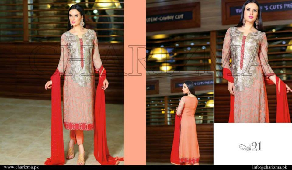 d736e221b3 Pakistani Suits Wholesaler Delhi India: Charizma Luxury Chiffon Eid 2015