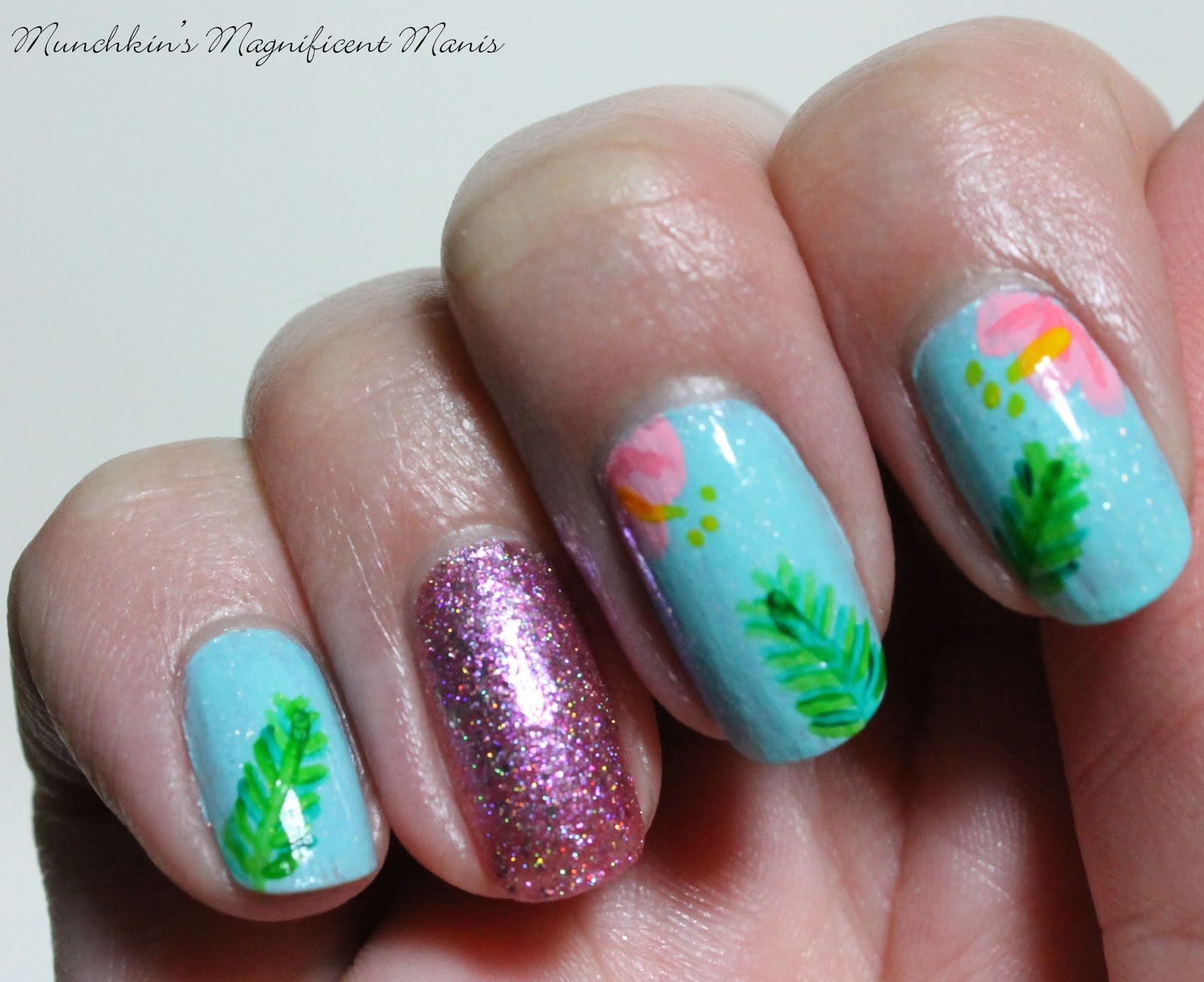 Munchkins Magnificent Manis: Aloha Flowers- Hibiscus ...