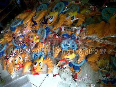 Produsen Jam Dinding Flanel Kartun Karakter Boneka