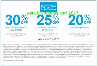free Childrens Place coupons for april 2017