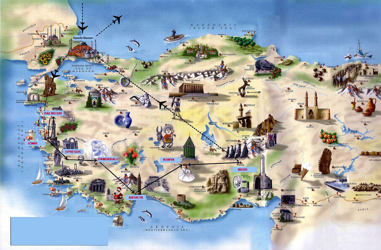 Romania Live Harta Turistica Turcia Obiective Turistice Turcia