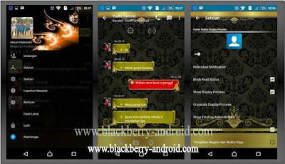 BBM Black Gold Themes New V.2.12.0.11 APK