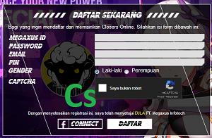 Cara Daftar Akun ID Game Closers Online Megaxus