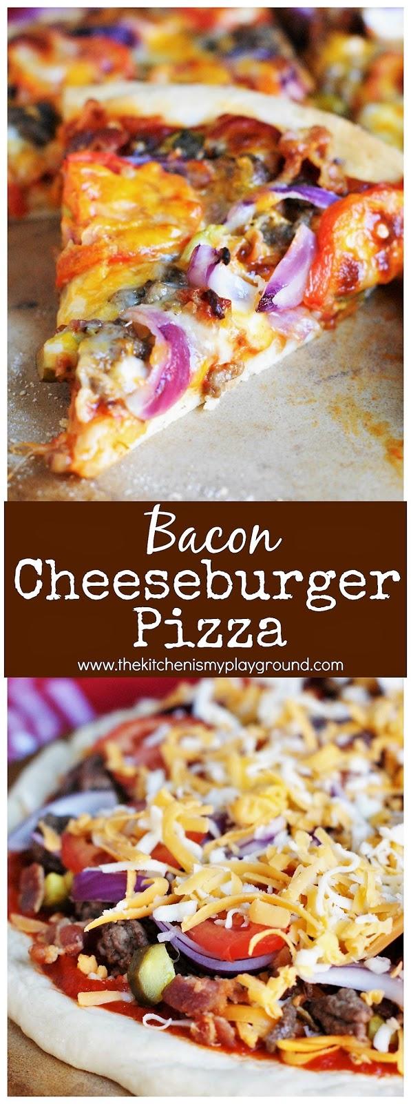 how to make a bacon cheeseburger pizza