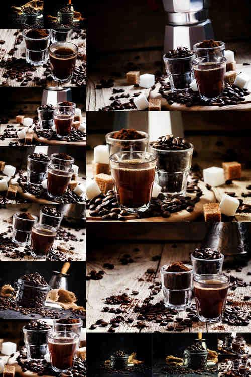 تحميل 15 صورة جودة عالية لحبوب البن في جرة زجاجية