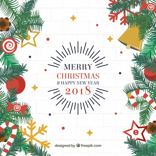 Decorative christmas background Free Vector