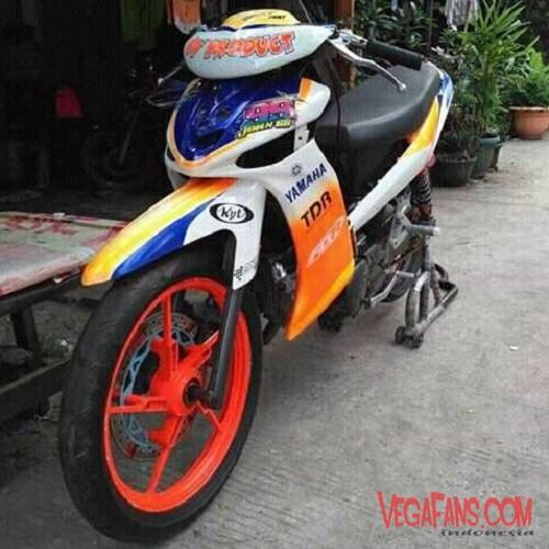 Modifikasi Vega ZR Road Race Keren Depan