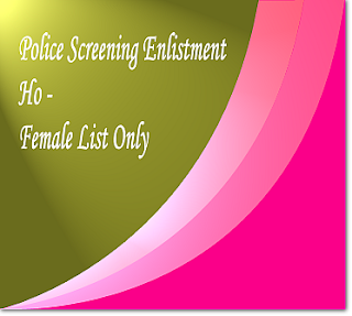 Police screening for Ho - female list