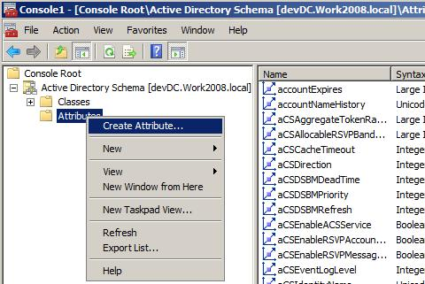 How to create custom attribute in Active Directory