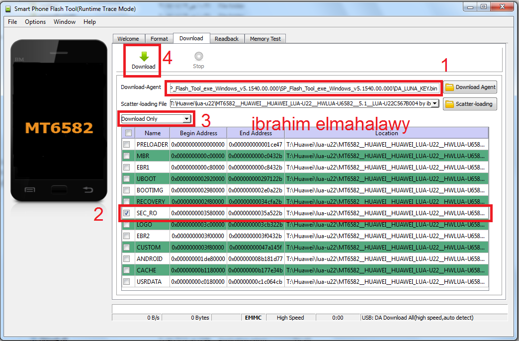 Guide To Revive Dead Huawei Y3II Lua-u22 Flash Via Flashtool