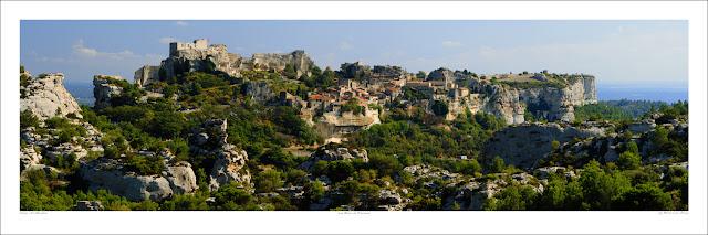 Benh Lieu Song Les Baux-de-Provence Village wide panoramic photo prints for sale, wikipedia Owen Art Studios Panoramas