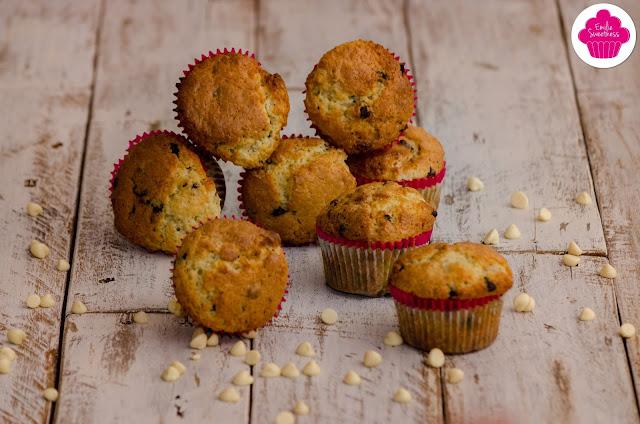 Muffins aux pépites de chocolat noirs et blancs - Hommage à Cassandra