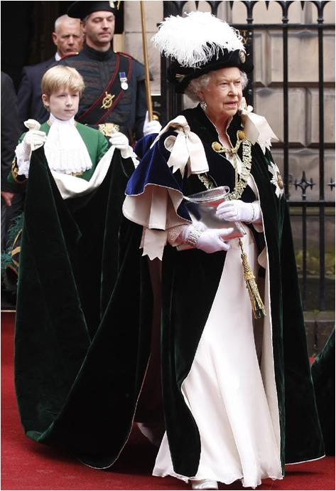 From Her Majesty U0026 39 S Jewel Vault  The Mantle Of The Order Of