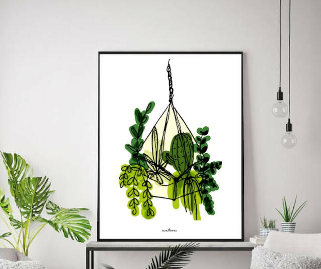 Jesienne plakaty botaniczne do druku