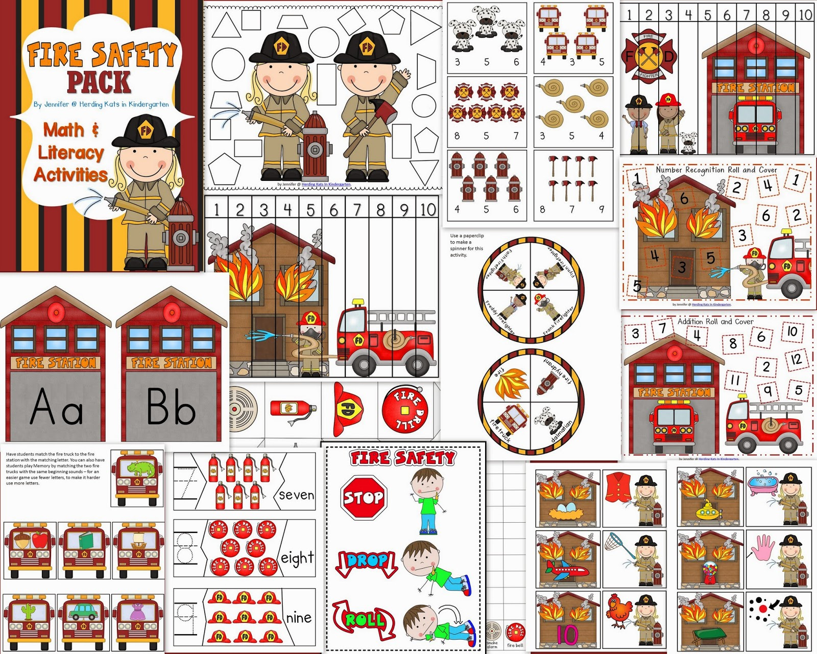 Herding Kats In Kindergarten Fire Safety Freebies
