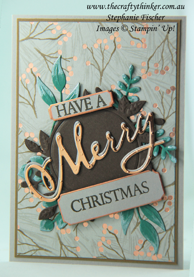 #thecraftythinker  #stampinup  #christmascard  #xmascard  #cardmaking  #holidaycatalogue2018  #merrychristmasbundle  ,Ink It Stamp It Design Team Blog Hop, Joyous Noel, Merry Christmas To All Bundle, Foliage Frames, Christmas Card, Stampin' Up Australia Demonstrator, Stephanie Fischer, Sydney NSW