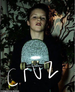 Cruz Beckham signs