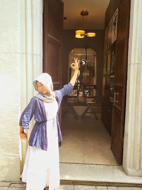 日本人ムスリマの手作りおしゃれヒジャブとヘナ手袋