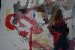 toddler watercolor art