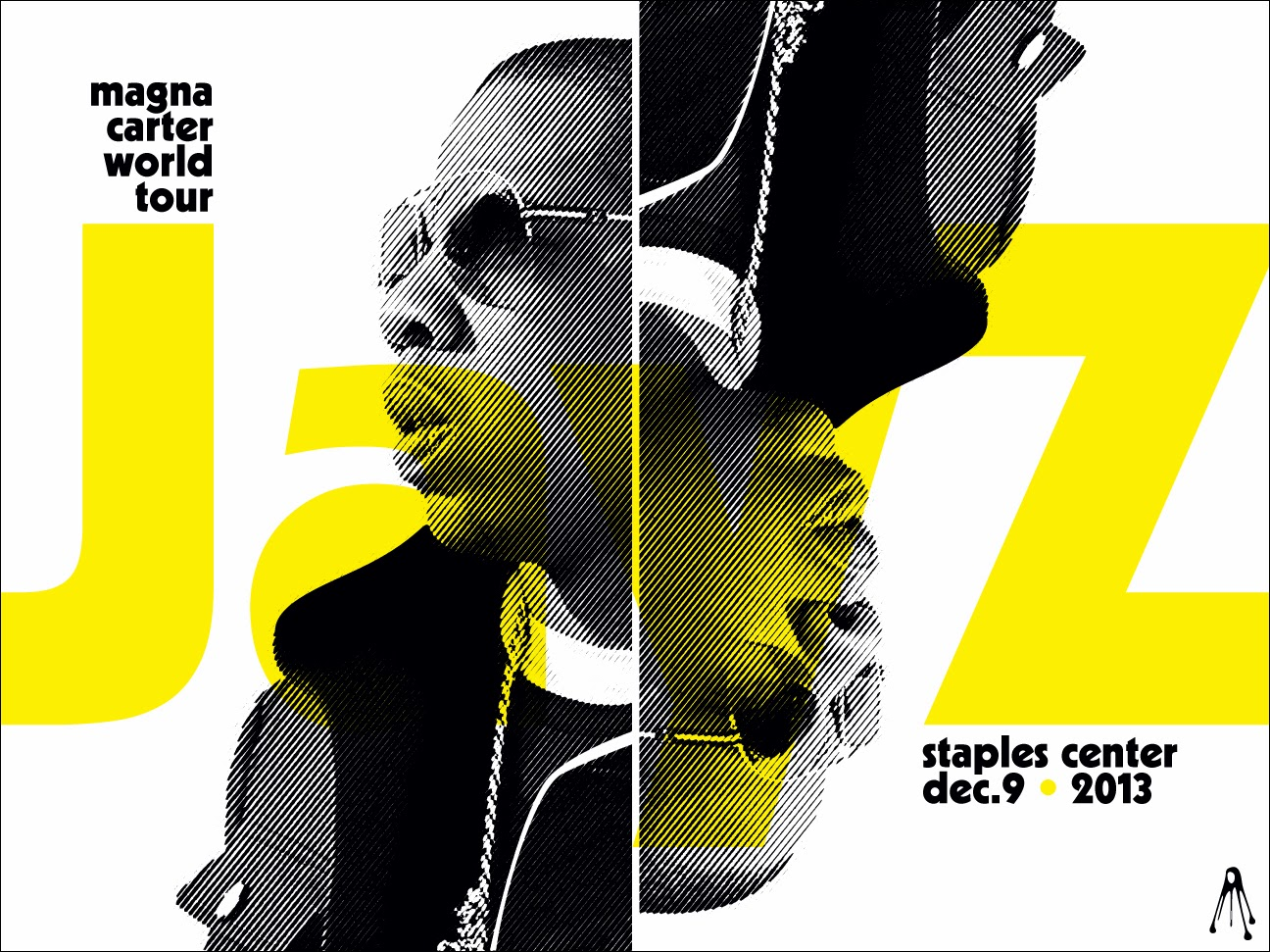 Poster design los angeles - Jay Z Justin Timberlake Los Angeles Posters By Kii Arens