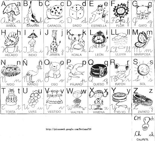 Abecedario con las cuatro letras - Imagui