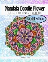 Digitla edition Mandala Doodle Flower coloring book